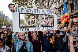Manifestació per l'alliberament de Sànchez i Cuixart