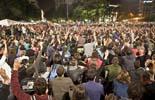 22M: Acampada per la Dignitat a la plaça Catalunya