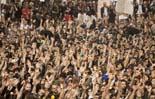 Acampada dels indignats a la plaça Catalunya