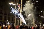 Celebració de la lliga a Canaletes