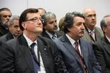 Centre d'Informació de la nuclear d'Ascó El conseller Mena i el el director general d'ANAV, José María Grávalos en el transcurs de la visita d'aquest dilluns.