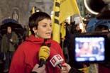 Protesta a la Plaça St. Jaume contra l'atac a la immersió lingüística