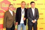 Concert benèfic de la Fundació Lluita Contra la Sida al Palau Sant Jordi. Xavier Trias, Dr. Bonaventura Clotet i Lluís Recoder.