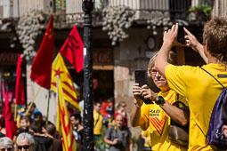 Diada Nacional 2014 a Barcelona: ambient matí (2)