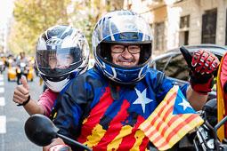 Diada Nacional 2014 a Barcelona: arribada dels Motards Independentistes