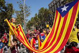 Via Catalana 2014 a la plaça de les Glòries