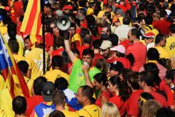 Via Catalana 2014 a la plaça de Sarah Bernhardt