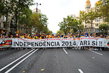 La Via Catalana a plaça Catalunya