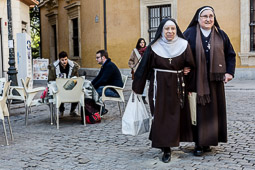 Eleccions andaluses 2015 Sor Rosa i Sor Mercedes, dues monges clarisses de Granada.
