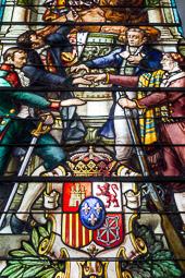 Eleccions andaluses 2015 Vidriera  del Museo de las Cortes de Cadis.