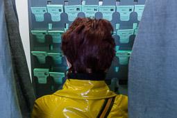 Eleccions andaluses 2015 Ambient electoral en un col·legi del centre de Sevilla.