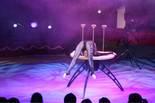 Festival Internacional de Circ de Figueres La contorsionista Sasha durant la seva actuació.