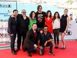 Festval Internacional de Cinema Fantàstic de Sitges 2014 (II) 04/10/2014 El director de cinema Alex de la Iglesia, que ha produït «Musarañas» amb l'equip de la pel·lícula.