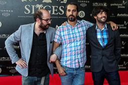 Festval Internacional de Cinema Fantàstic de Sitges 2014 (II) 09/10/2014 El director director de «Súper López» Javier Ruiz Caldera amb els guionistes Borja Cobeaga i Diego San José.