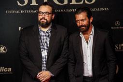 Festval Internacional de Cinema Fantàstic de Sitges 2014 (II) 09/10/2014 L'actor Antonio Banderas i el director d'«Autómata», Gabe Ibáñez, al Festival de cinema de Sitges.