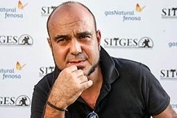 Festval Internacional de Cinema Fantàstic de Sitges 2014 (II) 10/10/2014 El director d'«Asmodexia», Marc Carreté, al Festival de cinema de Sitges