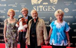 Festval Internacional de Cinema Fantàstic de Sitges 2014 (II) 10/10/2014 Joe Dante i Dick Miller, director i protagonista de la nissaga «Gremlins», aquest dissabte a la catifa vermella del Festival de Sitges.