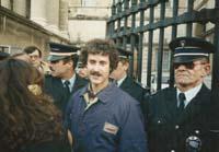 Aquella primera ERC independentista Pere Bascompte va passar de Terra Lliure a ERC i després va abandonar el partit. La foto és d'un judici a Montpeller per la seva extradició, el 1990.