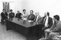 Aquella primera ERC independentista Acte electoral municipal amb Heribert Barrera, a Sant Julià de Vilatorta (Osona).