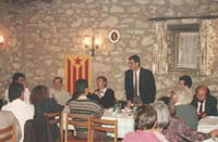 Aquella primera ERC independentista Carles Bonet va arribar a ERC procedent de la Convenció per la Independència Nacional. Discurs en un Sopar de la República, al santuari de Puiglagulla, de Vilalleons.