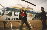 Aquella primera ERC independentista Campanya electoral al Parlament de Catalunya de 1992.  L'helicòpter llogat per ERC per traslladar Colom va causar sensació.