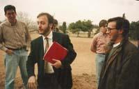 Aquella primera ERC independentista Colom, amb un grup de joves a l'antic Seminari de Vic, després d'una conferència, a la campanya de 1992.