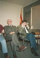 Aquella primera ERC independentista Nit electoral 1992: Marc Aureli Vila amb el diputat electe Jordi Portabella.