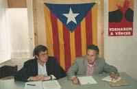 Aquella primera ERC independentista Pere Prat, vicepresident de la Diputació de Barcelona (2011-2015), i Josep M. Freixanet, diputat ponent per ERC a la Llei d'Educació de Catalunya (LEC), de 2009, en una foto de 1993.