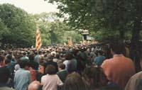 Aquella primera ERC independentista Concert i miting pel concert econòmic i contra l'espoli fiscal, convocats per ERC al parc de la Ciutadella el 1993.