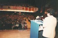Aquella primera ERC independentista Pilar Rahola, incorporada a ERC el 1993, en un miting a Vic de la campanya de les eleccions generals del mateix any.