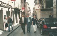 Aquella primera ERC independentista Àngel Colom, Pere Prat i Pilar Rahola, de campanya, a Manlleu.
