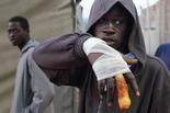 Melilla, el mur d'Europa Dimecres 19 de març / Un jove ferit per les concertines durant el salt del 18 de març.