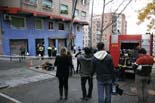 Incendi al barri d'Horta de Barcelona