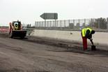 Treballs de reparació del carril lateral de l'A-2 d'accés a Mollerussa