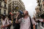Treballadors de TMB es manifesten pel centre de Barcelona