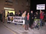 Manifestació contra el cementiri nuclear a Móra d'Ebre