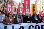 Manifestació  a Barcelona contra contra les retallades, l'atur i la corrupció