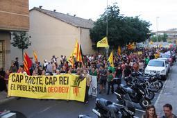 Manifestació contra la visita del Felip VI a Girona