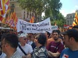 Manifestació dels treballadors del sector públic a Barcelona