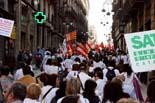 Concentració del sector sanitari a la plaça Sant Jaume