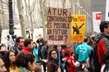 Manifestació contra l'ERO a la factoria d'Ercros