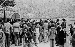 Ocupació de la duana del Portús contra l'extradició de Viusà, 1979 Primeres assemblees per debatre com respondre al bloqueig.
