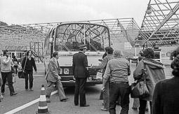 Ocupació de la duana del Portús contra l'extradició de Viusà, 1979 Creix la tensió entre gendarmes i concentrats.