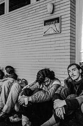 Ocupació de la duana del Portús contra l'extradició de Viusà, 1979 Frederic Bentanachs, a la dreta de la imatge.
