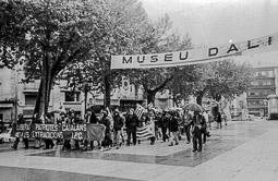 Ocupació de la duana del Portús contra l'extradició de Viusà, 1979 Manifestació a la rambla de Figueres.