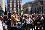 Protesta a la plaça Sant Jaume contra les «noves» retallades