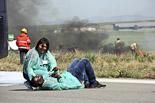 Simulacre d'accident aeri a l'Aeroport de Lleida-Alguaire