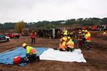 Simulacre d'accident d'autobús a Lleida
