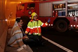 Simulacre d'accident de trànsit al túnel de Casserres