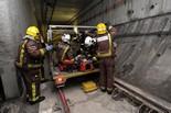 Simulacre d'evacuació a la línia 9 del metro